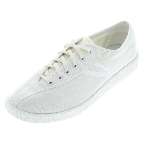 Men's Nylite Plus Canvas White Tennis Shoes