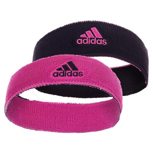 Interval Reversible Headband Black And Intense Pink