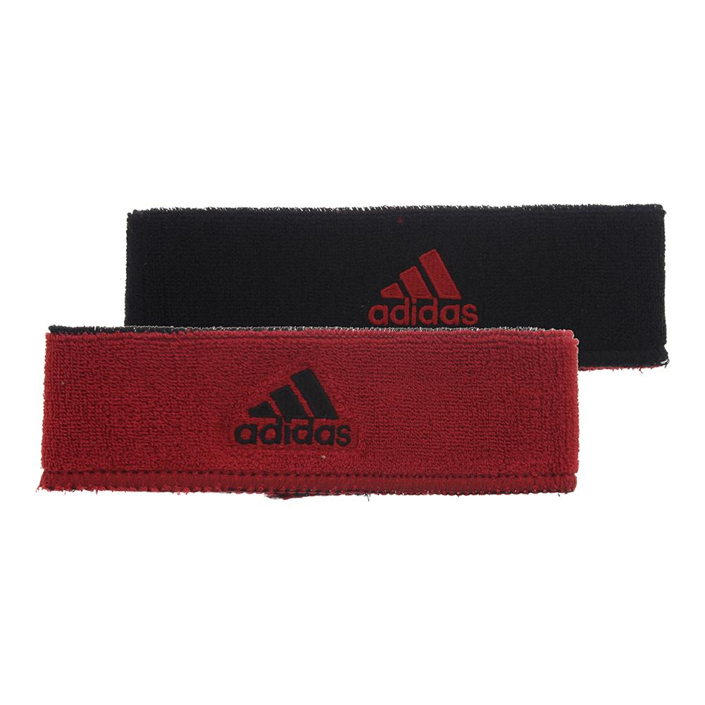 Interval Reversible Headband Black And University Red