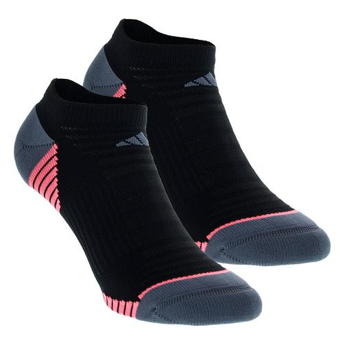 Women's Superlite Speed Mesh No Show Socks 2 Pack Black And Onix Size 5- 10