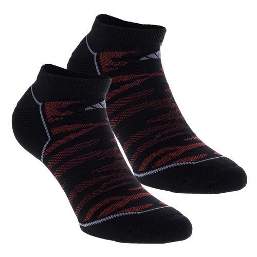 Men's Superlite Prime Mesh No Show Socks 2 Pack Black And Scarlet Size 6- 12