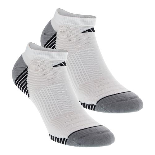 Men's Superlite Speed Mesh No Show Tennis Sock 2 Pack White And Black Size 6- 12