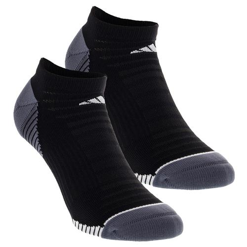 Men's Superlite Speed Mesh No Show Tennis Sock 2 Pack Black And White Size 6- 12