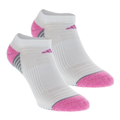 Women's Superlite Speed Mesh No Show Socks 2 Pack White And Mono Pink Size 5- 10