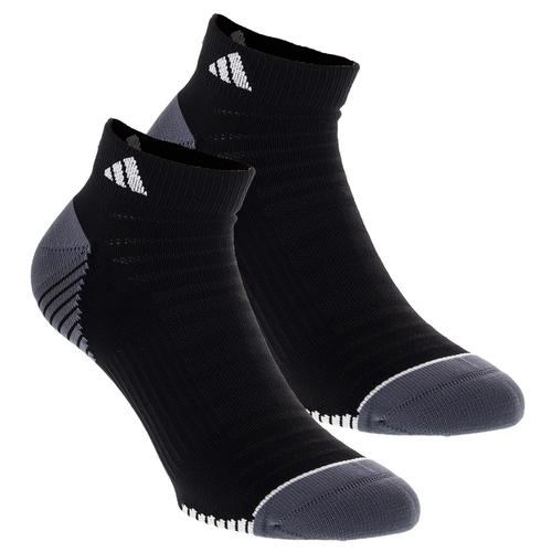 Men's Superlite Speed Mesh Low Cut Tennis Socks Pack Black And Onix Size 6- 12