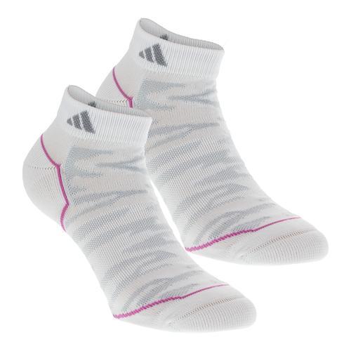 Women's Superlite Prime Mesh Low Cut Tennis Socks 2 Pack White And Gray Sz 5- 10