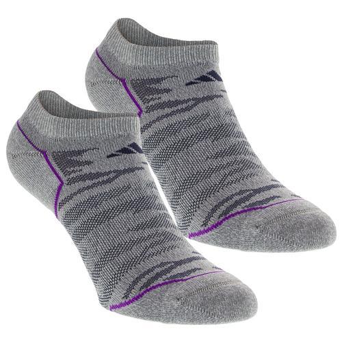 Women's Superlite Prime No Show Socks 2 Pack Clear Gray Marl And Md Gy Size 5- 10