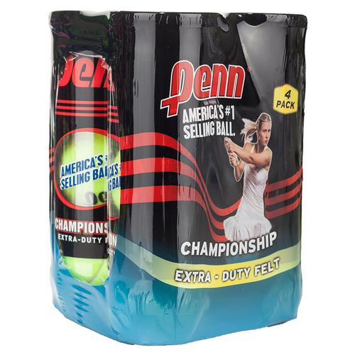 Champ Extra- Duty Felt 4 Pack Tennis Balls