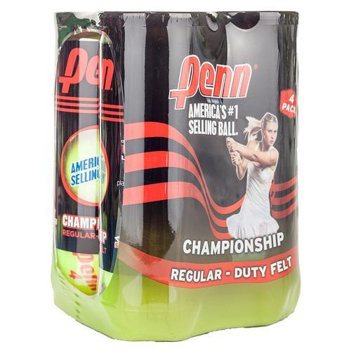 Champ Regular- Duty Felt 4 Pack Tennis Balls