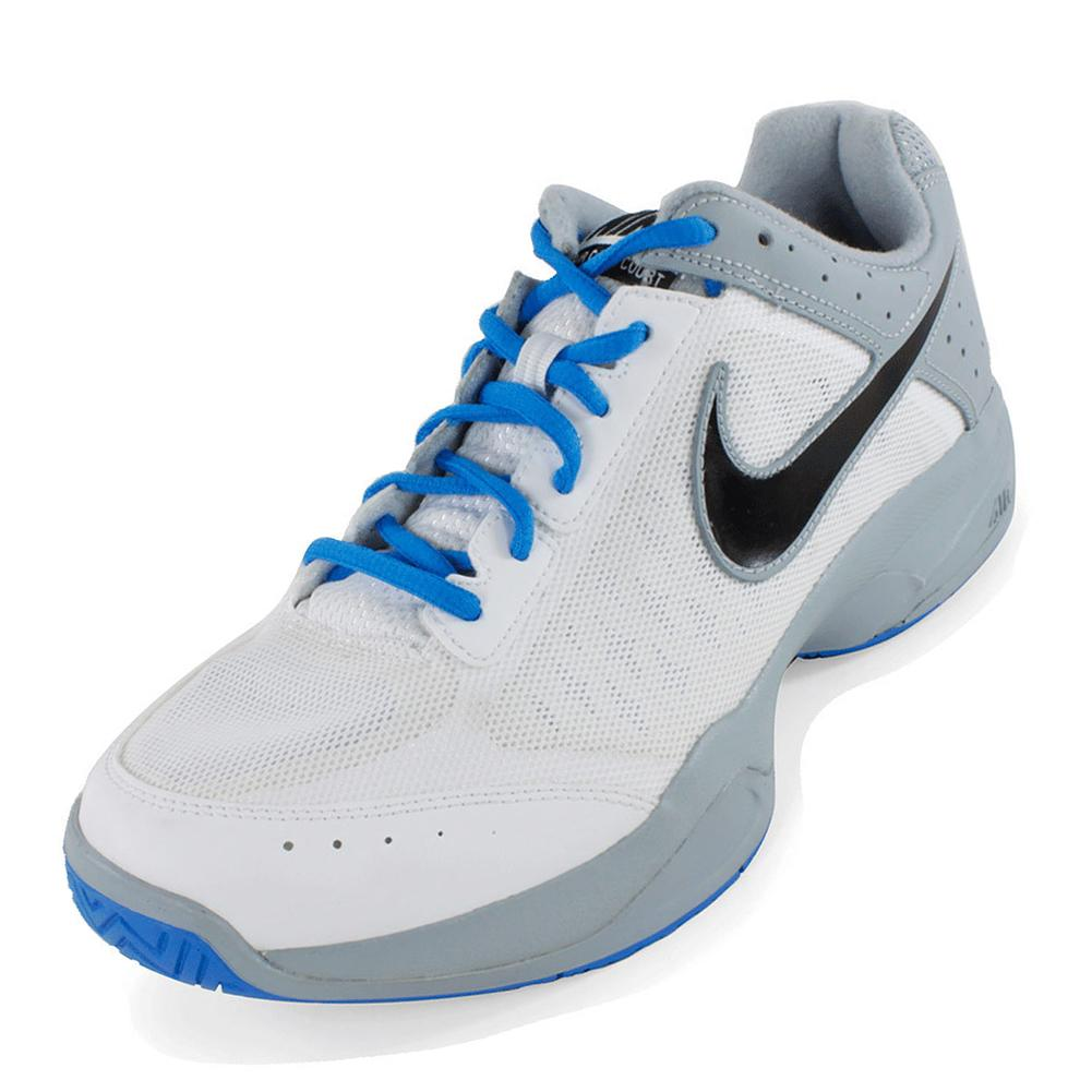 Men's Air Cage Court Shoes White And Light Magnet Gray