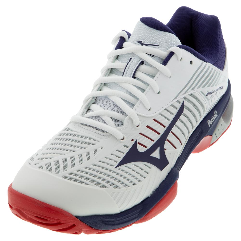 Men's Wave Exceed Tour 3 Ac Tennis Shoes White And Astral Aura