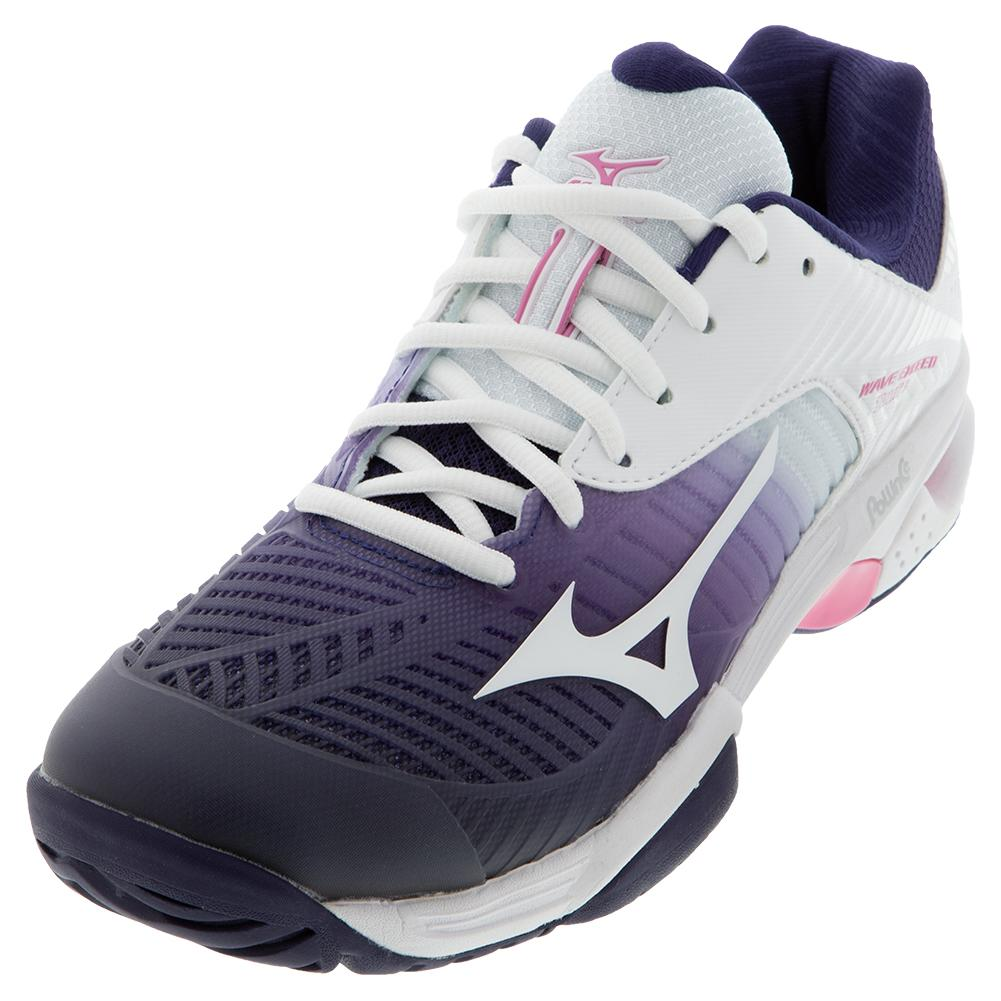Women's Wave Exceed Tour 3 Ac Tennis Shoes Astral Aura And White
