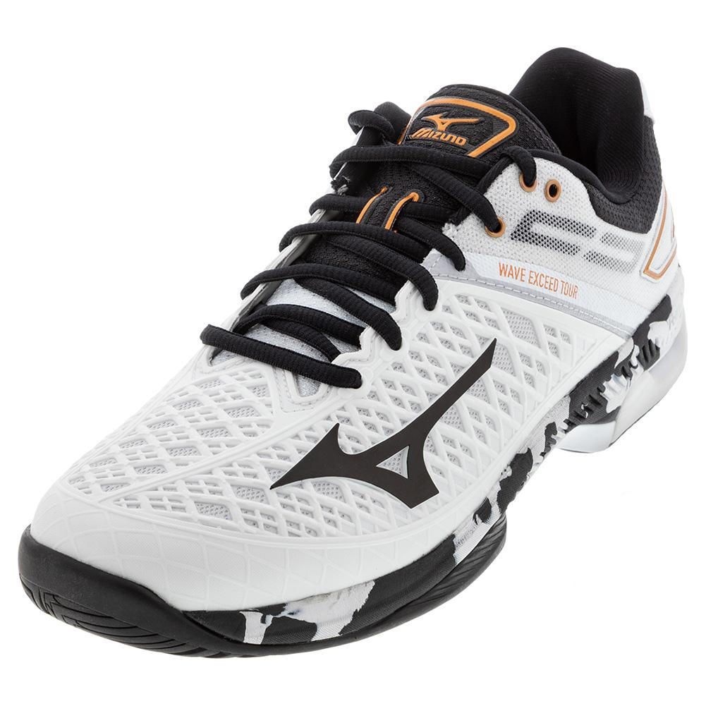 Men's Wave Exceed Tour 4 Ac Tennis Shoes White And Black