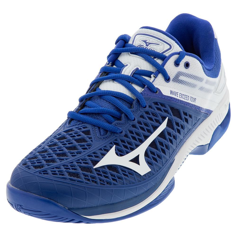 Men's Wave Exceed Tour 4 Ac Tennis Shoes True Blue And White