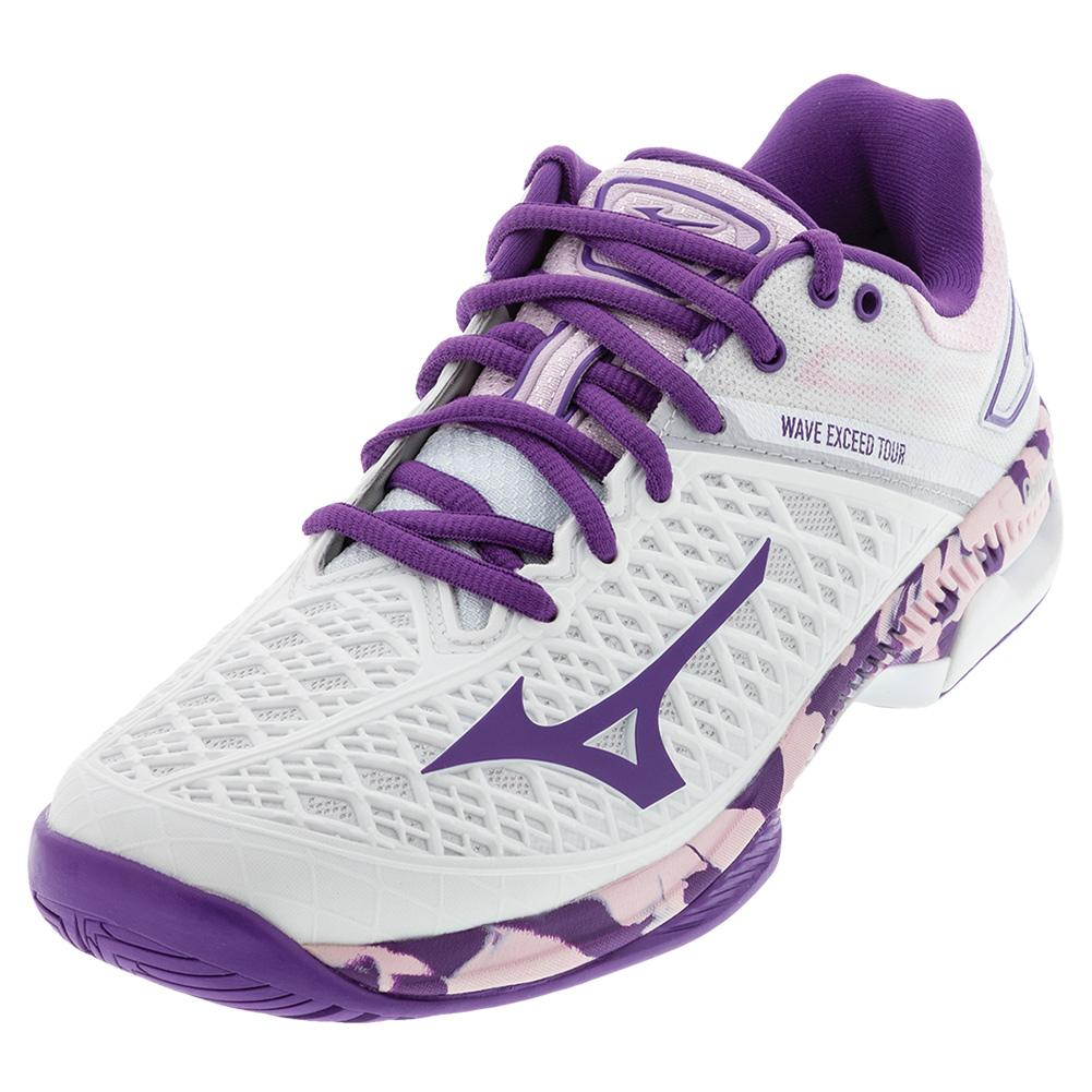 Women's Wave Exceed Tour 4 Ac Tennis Shoes White And Purple