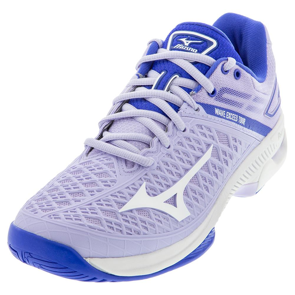 Women's Wave Exceed Tour 4 Ac Tennis Shoes Purple Heath And White