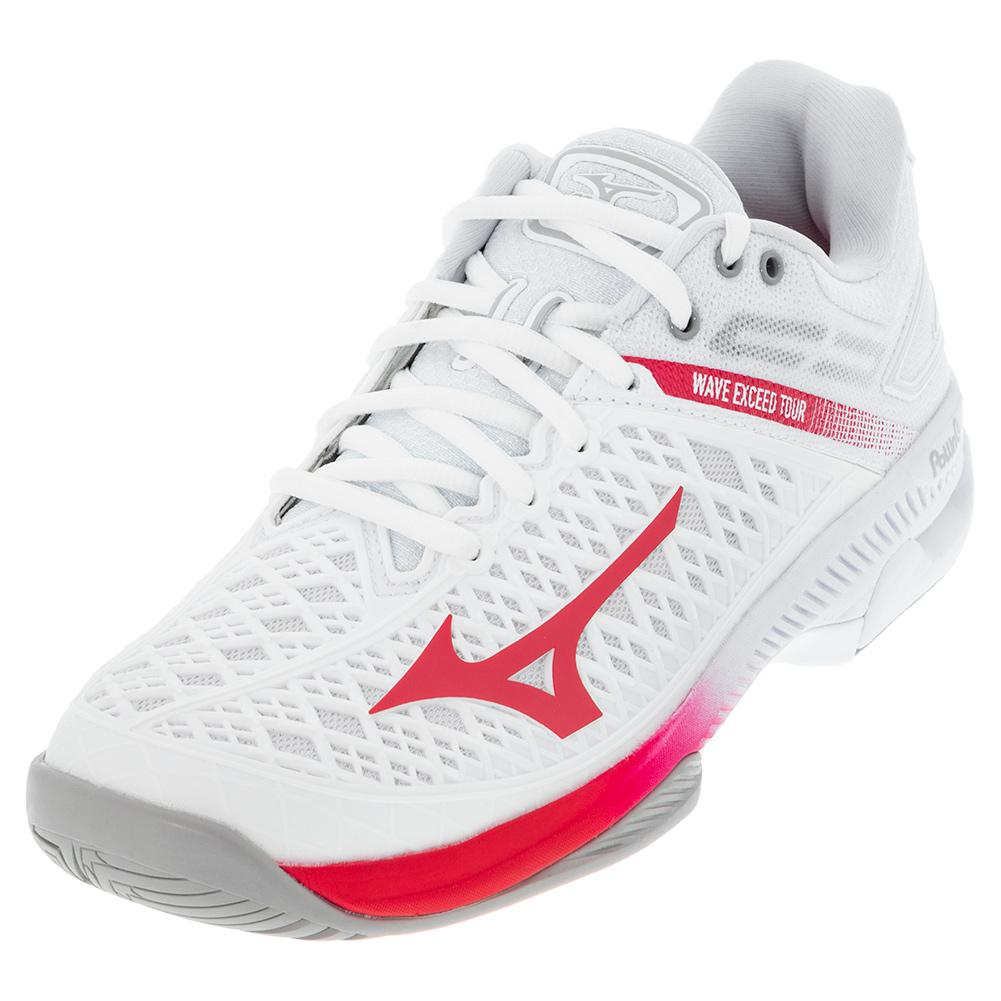 Women's Wave Exceed Tour 4 Ac Tennis Shoes White And Rose Red