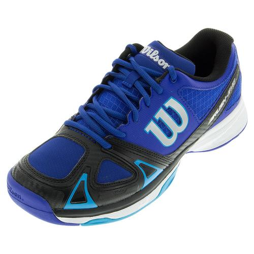 Men's Rush Evo Tennis Shoes Surf The Web And Black