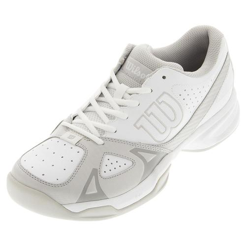 Men's Rush Open 2.0 Tennis Shoes White And Steel Gray