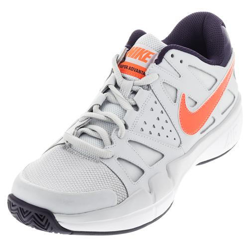 Men's Air Vapor Advantage Tennis Shoes Pure Platinum And Purple Dynasty