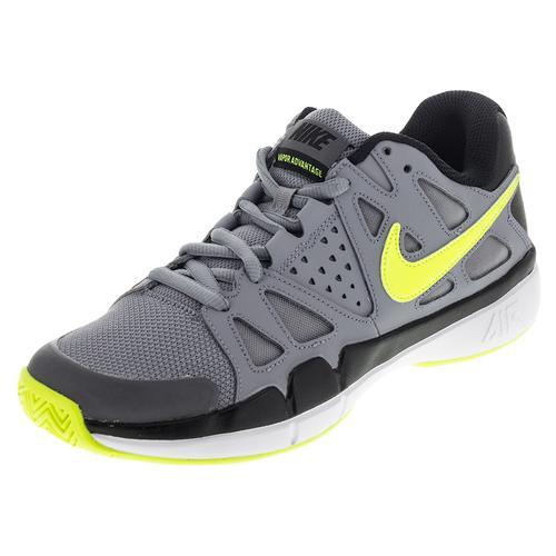 Men's Air Vapor Advantage Tennis Shoes Stealth And Black