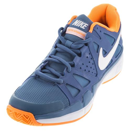 Men's Air Vapor Advantage Tennis Shoes Ocean Fog And Bright Citrus