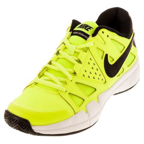 Men's Air Vapor Advantage Tennis Shoes Volt And Black