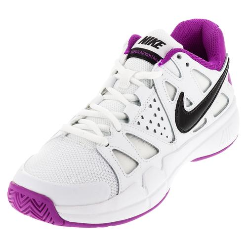 Women's Air Vapor Advantage Tennis Shoes White And Hyper Violet