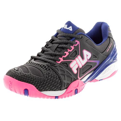 Women's Cage Delirium Tennis Shoes Dark Shale And Pink Glow