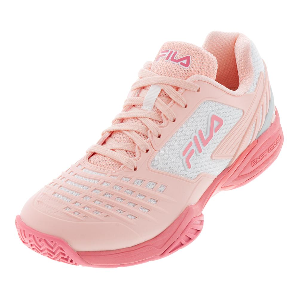 Women's Axilus 2 Energized Tennis Shoes Crystal Rose, Salmon Rose, And White