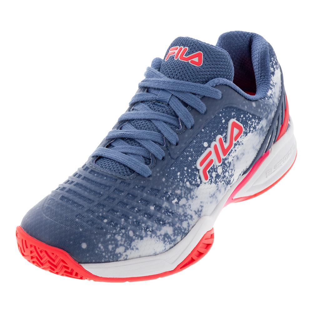 6fe77c0de7b Fila Women's Axilus 2 Energized Tennis Shoes Infinity, White, and Diva Pink