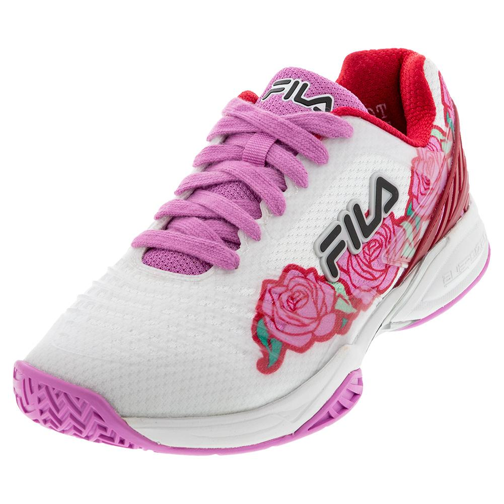 Women's Axilus 2 Energized Tennis Shoes White And Cyclamen