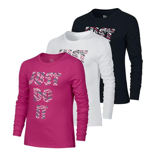 Girls ` Just Do It Tiger Training Top