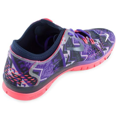 the latest 955fd edb68 Women s Free 5.0 Training Fit 4 Print Shoes Obsidian And Hyper Grape. Zoom.  Hover to zoom click to enlarge. 360 View