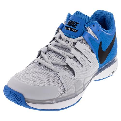 Men's Zoom Vapor 9.5 Tour Tennis Shoes Lite Photo Blue And Pure Platinum