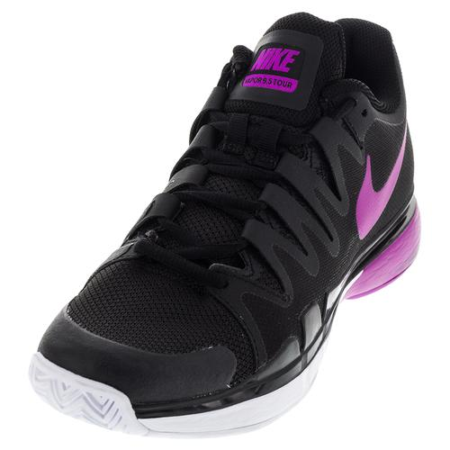 Women's Zoom Vapor 9.5 Tour Tennis Shoes Black And Hyper Violet