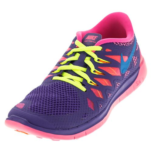 7ec6aa50975a Girls ` Free 5.0 Shoes Hyper Grape And Hyper Pink