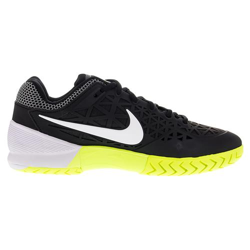 nike s zoom cage 2 tennis shoes black and white