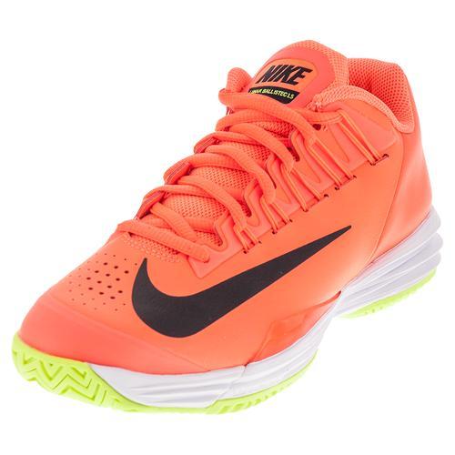 Men's Lunar Ballistec 1.5 Tennis Shoes Hyper Orange And Black