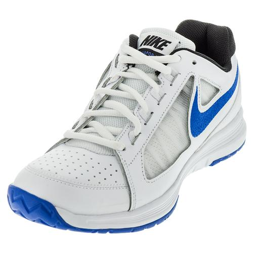 Men's Air Vapor Ace Tennis Shoes White And Medium Blue