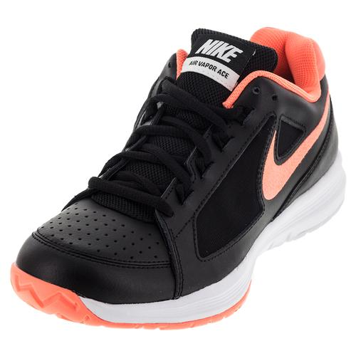 Women's Air Vapor Ace Tennis Shoes Black And Mango