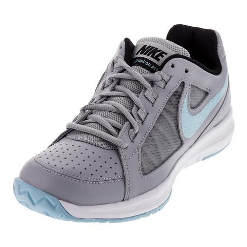 Women's Air Vapor Ace Tennis Shoes Wolf Gray And Still Blue