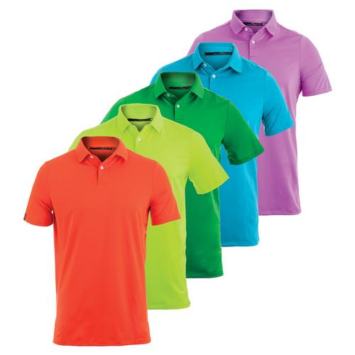 Men's Solid Airflow Knit Polo