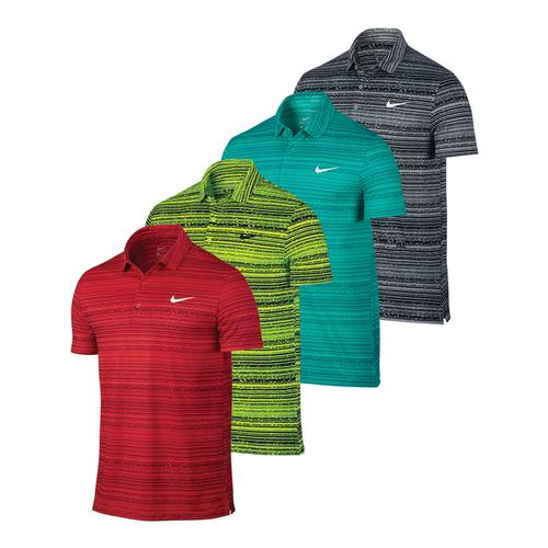 Men's Sphere Striped Tennis Polo