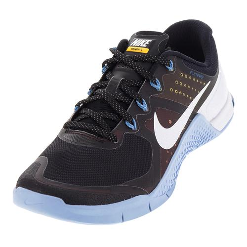 a55ffe04f51 NIKE NIKE Men s Metcon 2 Amp Low Top Shoes Black And White
