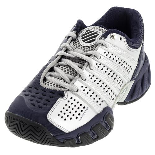 Juniors ` Bigshot Light 2.5 Tennis Shoes Silver And Navy