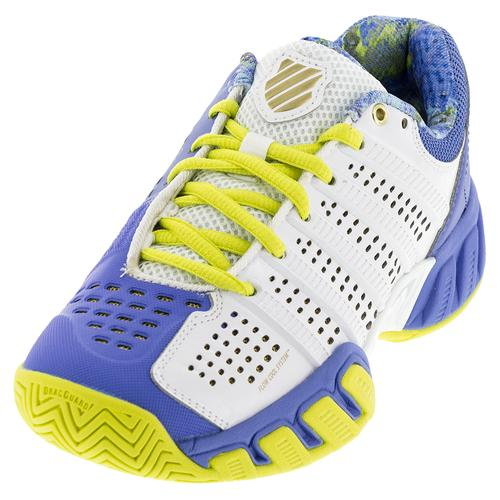Juniors ` Bigshot Light 2.5 Tennis Shoes White And Ultramarine