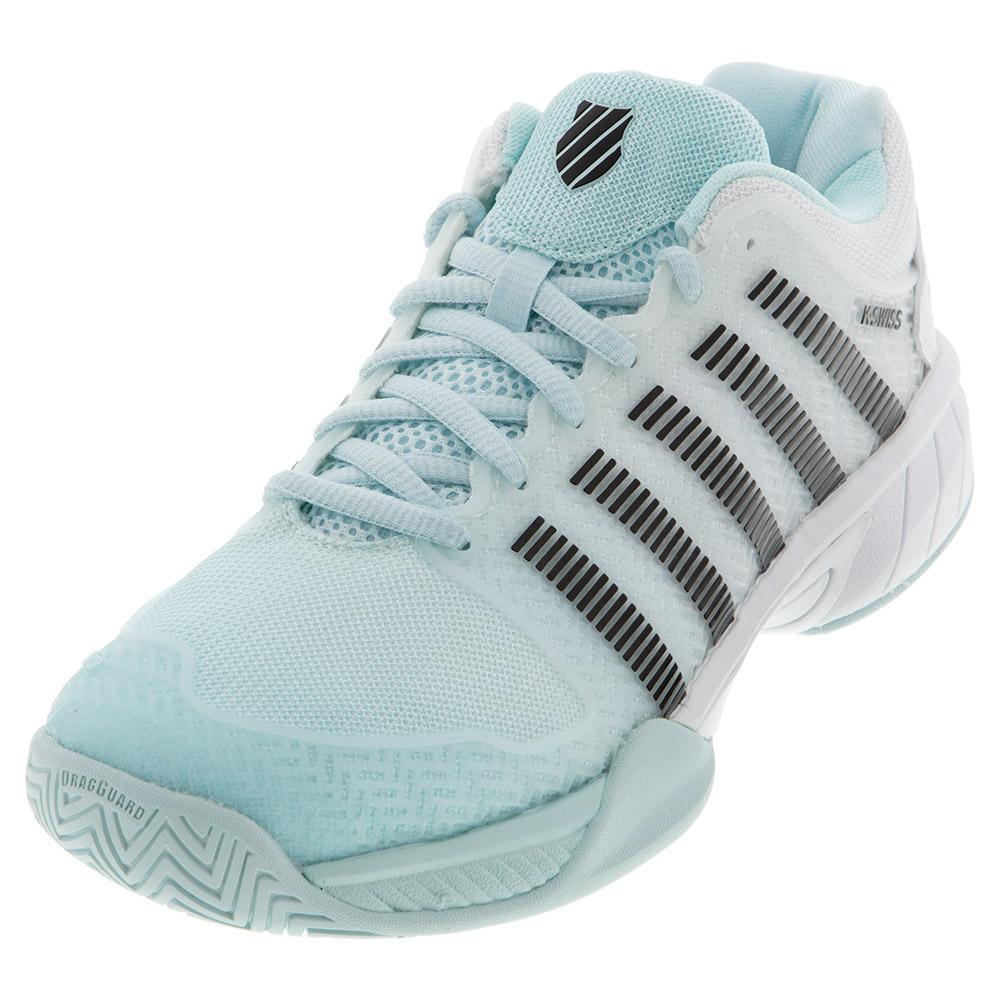 Juniors ` Hypercourt Express Tennis Shoes Pastel And Black
