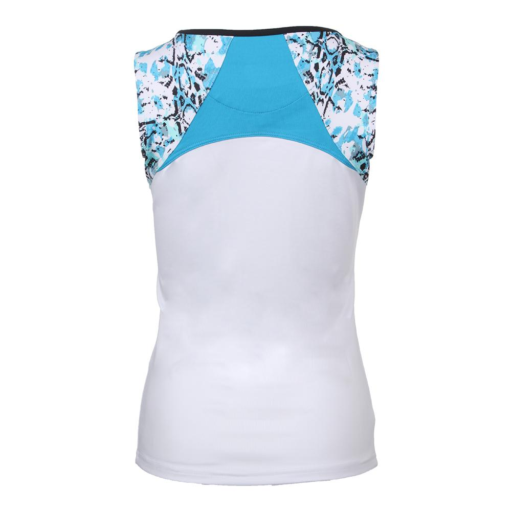 8e60a5bab1b1d Women's Indigo Splash Tennis Tank White. Zoom. Hover to zoom click to  enlarge. Description ...