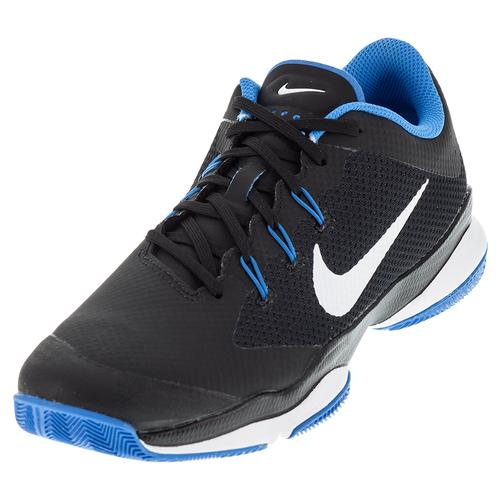 Men's Air Zoom Ultra Tennis Shoes Black And Lite Photo Blue